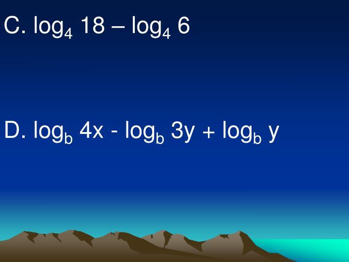 C. log