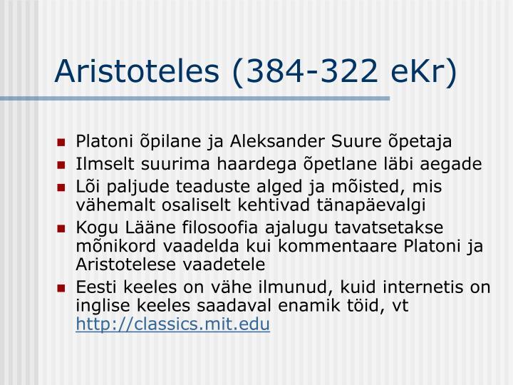 Aristoteles (384-322 eKr)