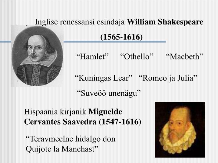 Inglise renessansi esindaja