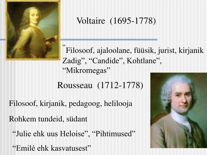 Voltaire  (1695-1778)