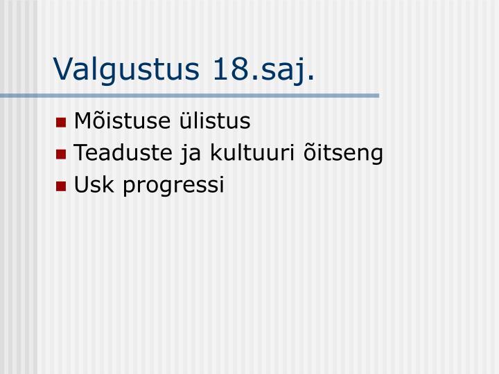 Valgustus 18.saj.