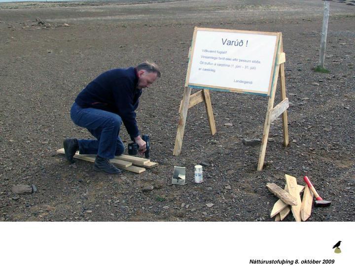 Náttúrustofuþing 8. október 2009