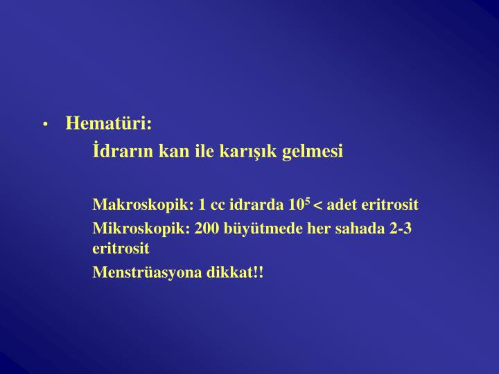 Hematüri: