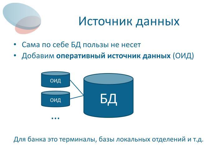 Источник данных