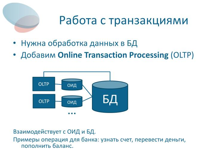 Работа с транзакциями