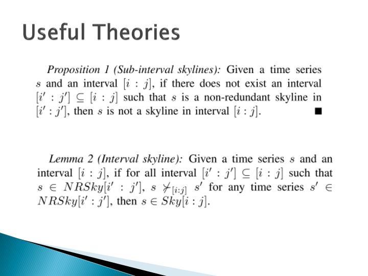 Useful Theories