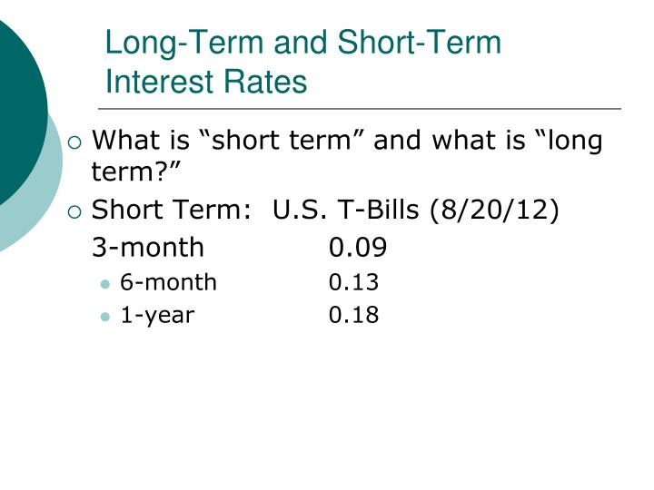 long term and short interest rate relationship