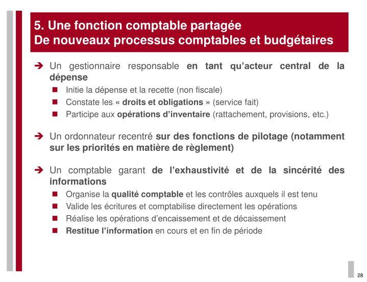 5. Une fonction comptable partagée