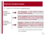 distinction budget comptes