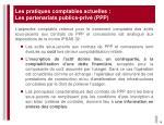 les pratiques comptables actuelles les partenariats publics priv ppp