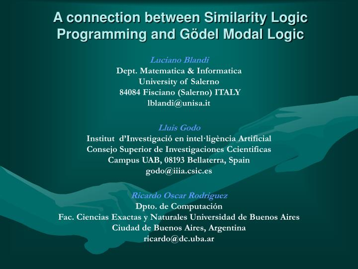 A connection between similarity logic programming and g del modal logic