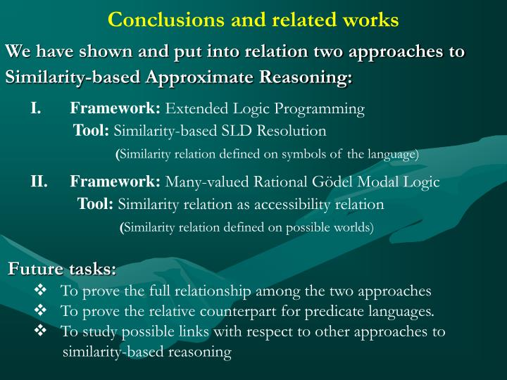 Conclusions and related works