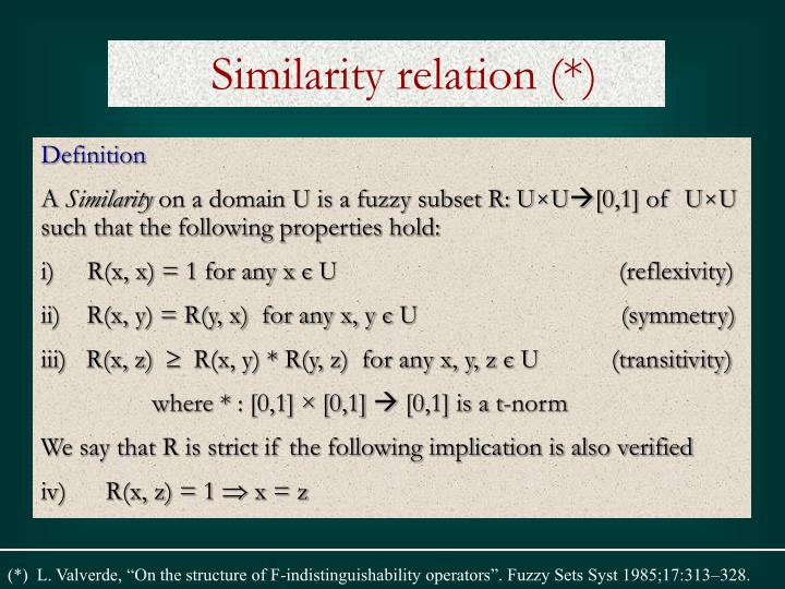 Similarity relation (*)