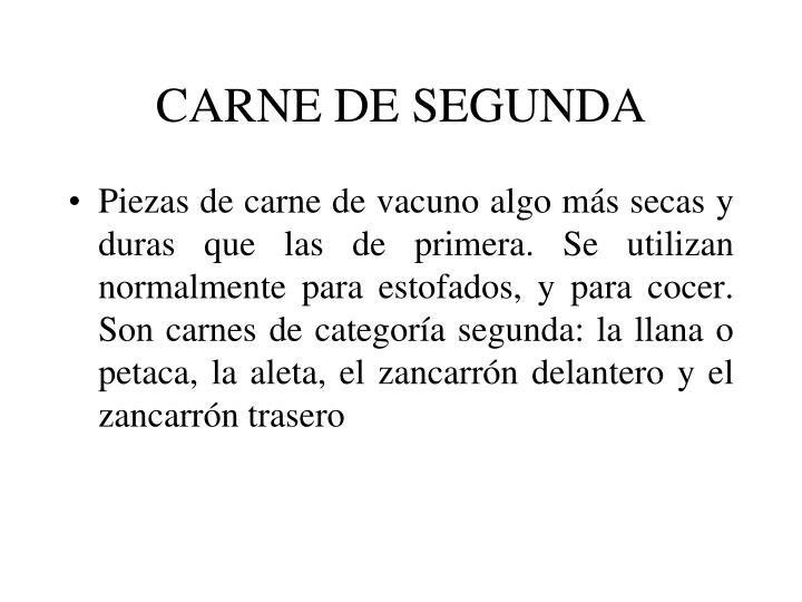 CARNE DE SEGUNDA