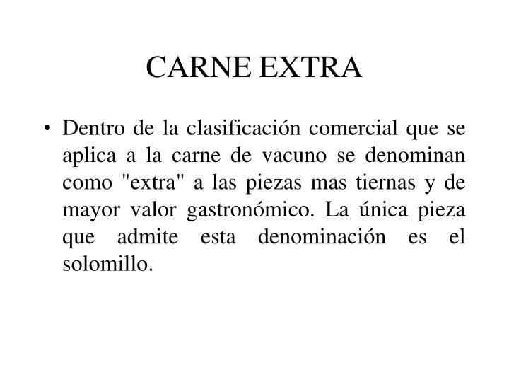 CARNE EXTRA