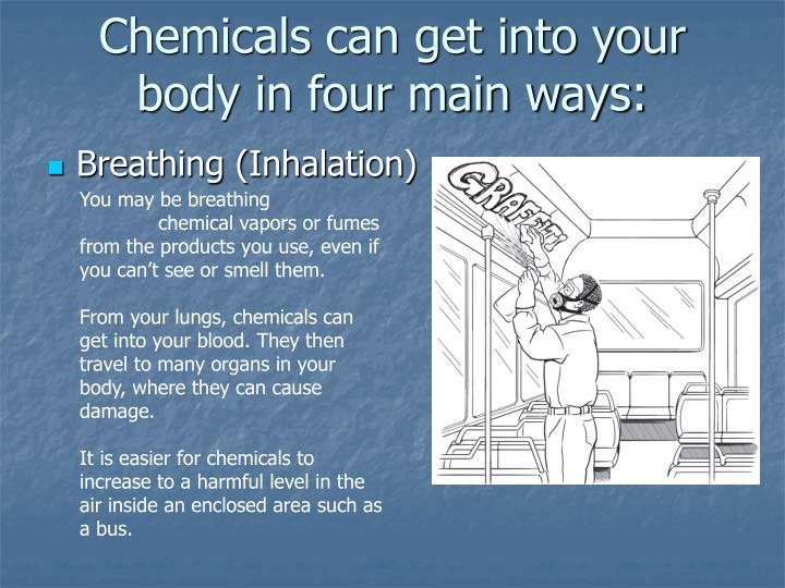 Chemicals can get into your body in four main ways: