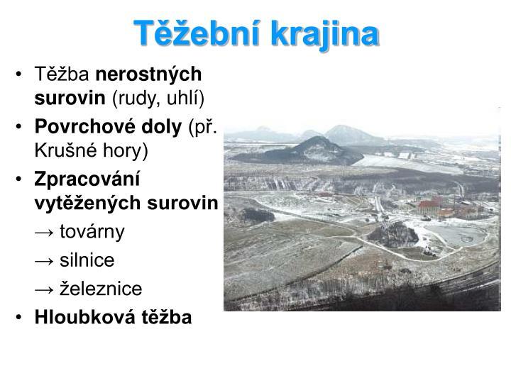 Těžební krajina