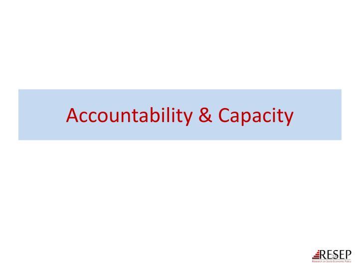 Accountability & Capacity
