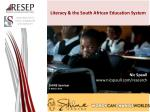 literacy the south african e ducation system