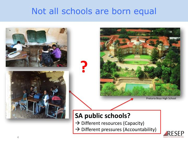 Not all schools are born equal