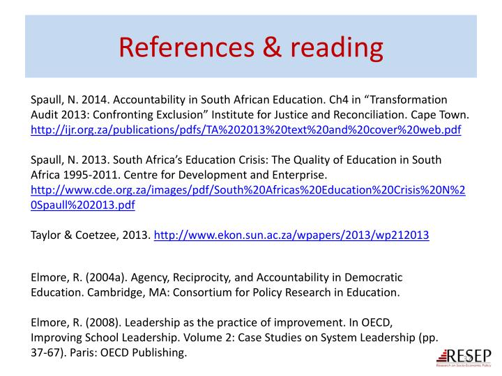 References & reading