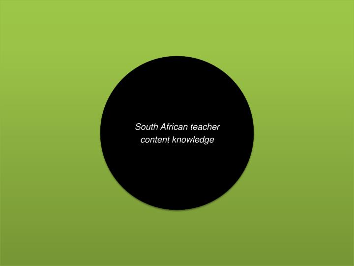 South African teacher content knowledge