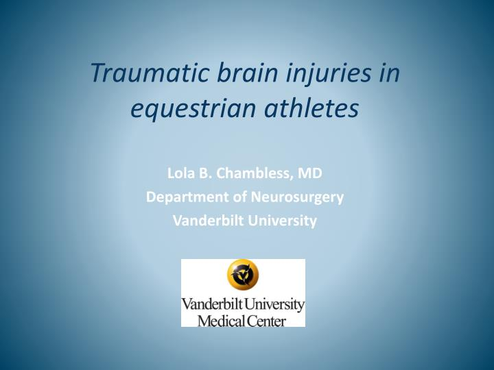 Traumatic brain injuries in equestrian athletes