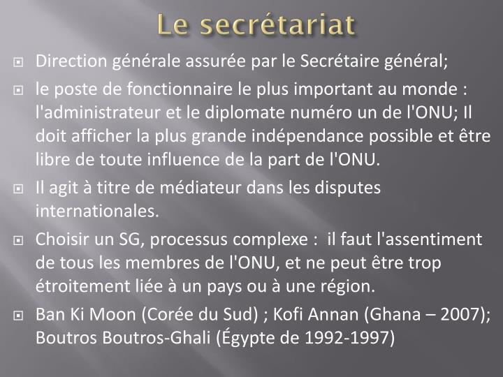 Le secrétariat