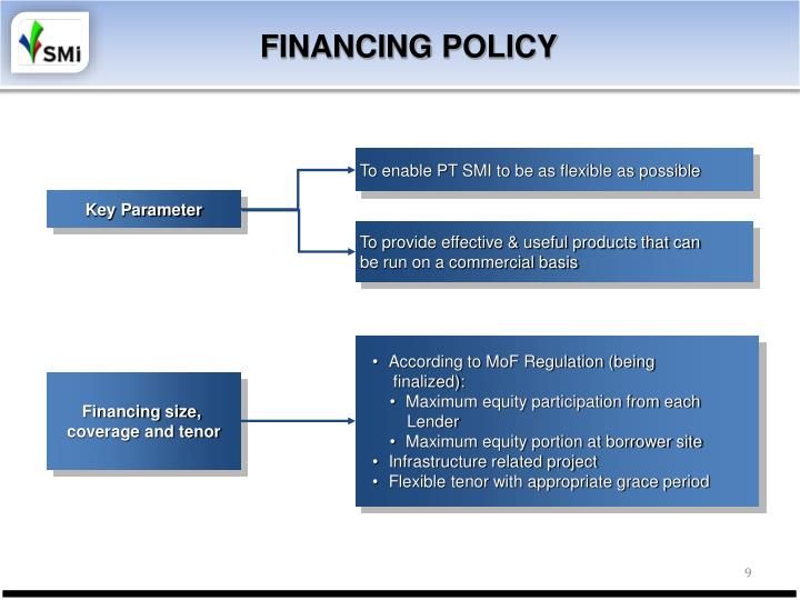 To enable PT SMI to be as flexible as possible