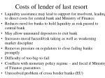 costs of lender of last resort