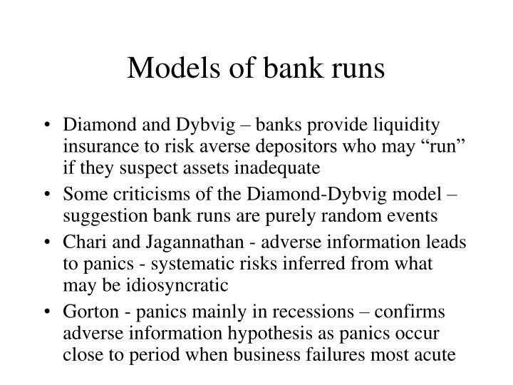 Models of bank runs
