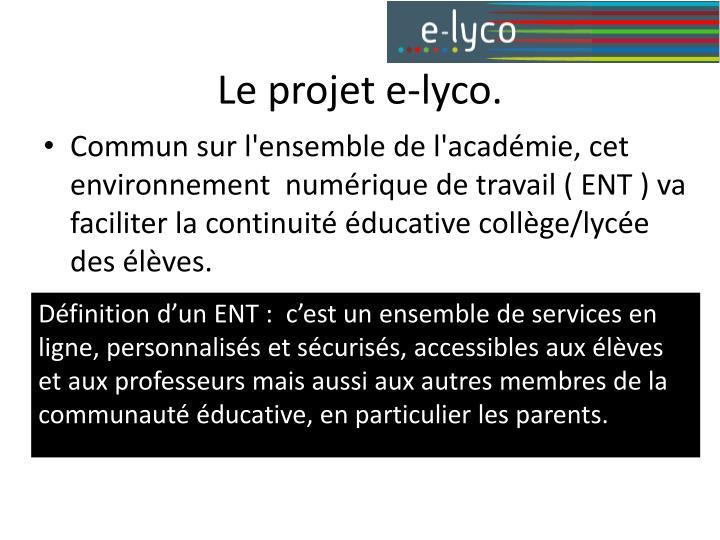 Le projet e-