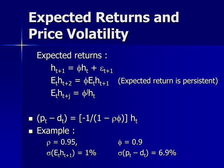 Expected Returns and Price Volatility