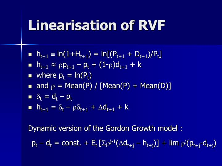 Linearisation of RVF