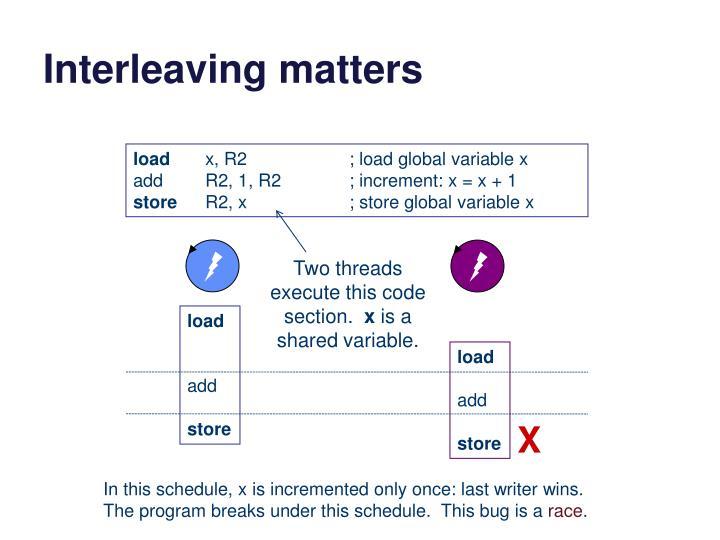 Interleaving matters