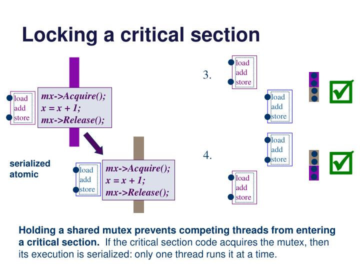 Locking a critical section