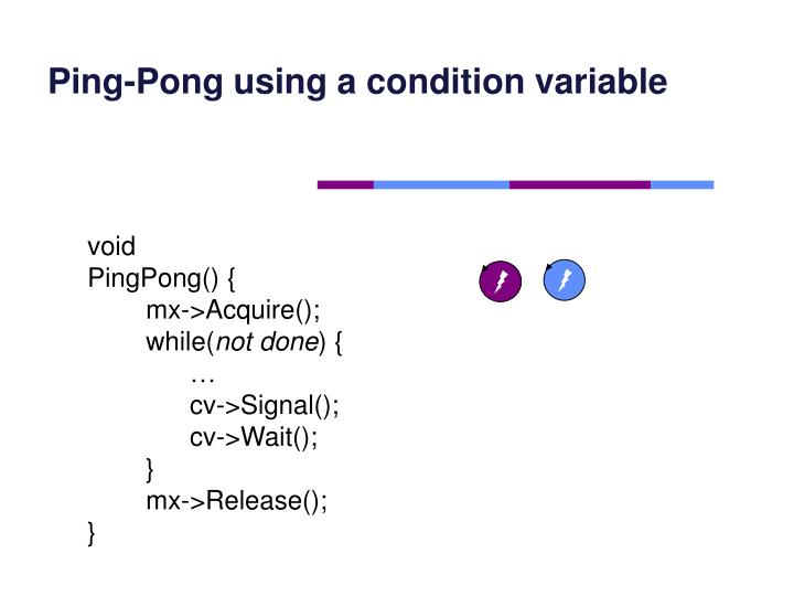 Ping-Pong using a condition variable
