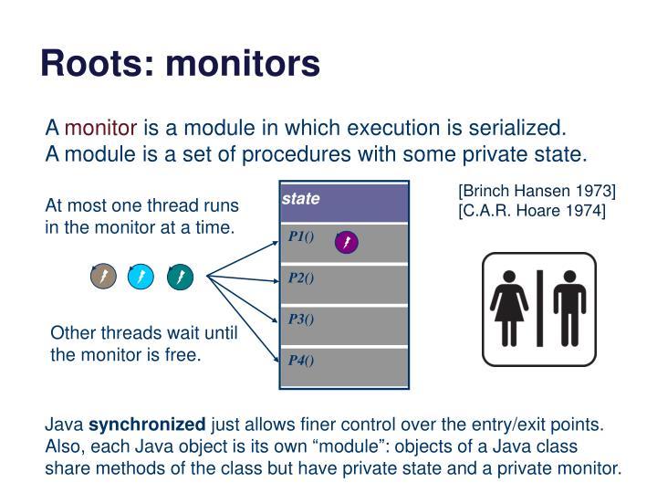 Roots: monitors