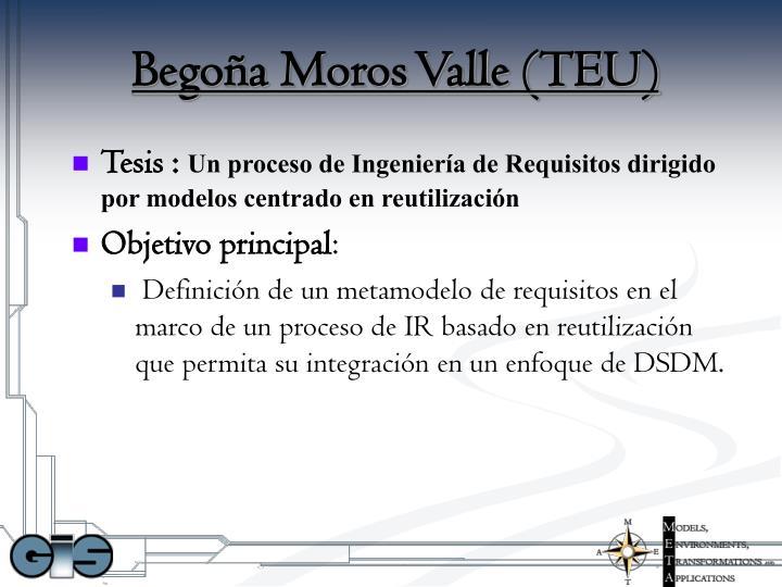 Begoña Moros Valle (TEU)