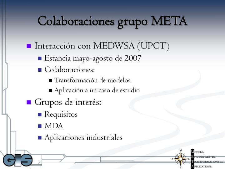 Colaboraciones grupo META