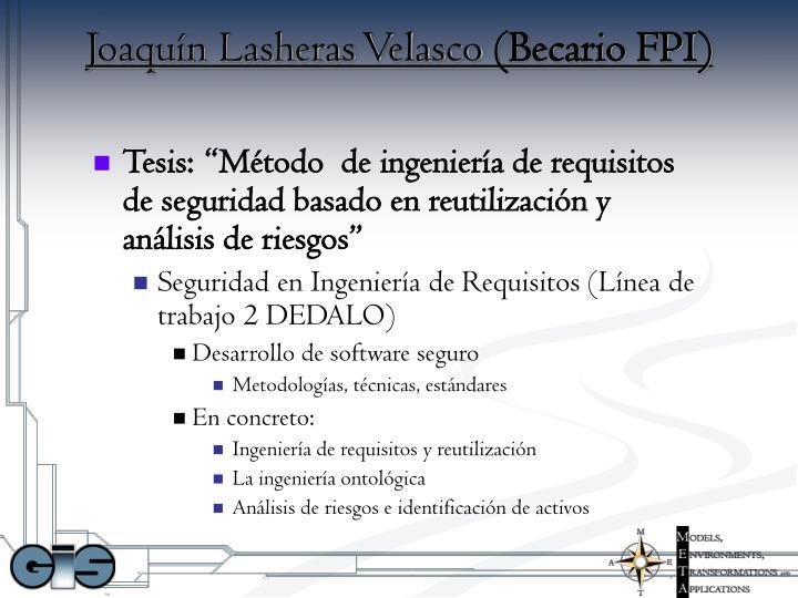 Joaquín Lasheras Velasco