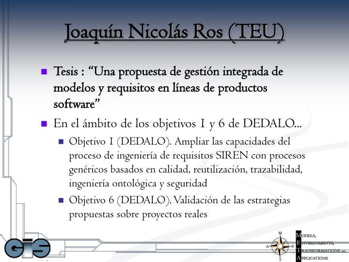 Joaquín Nicolás Ros (TEU)