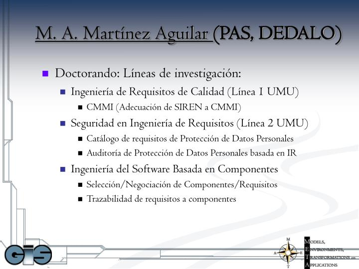 M. A. Martínez Aguilar