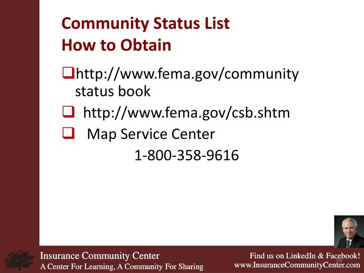Community Status List