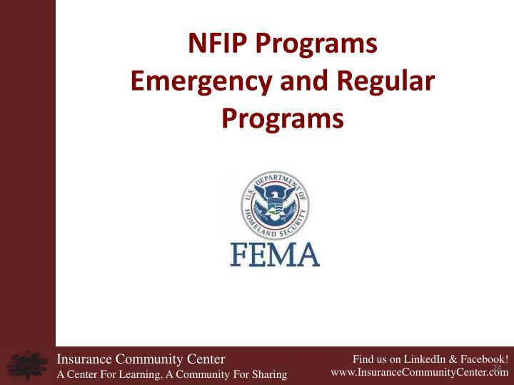 NFIP Programs