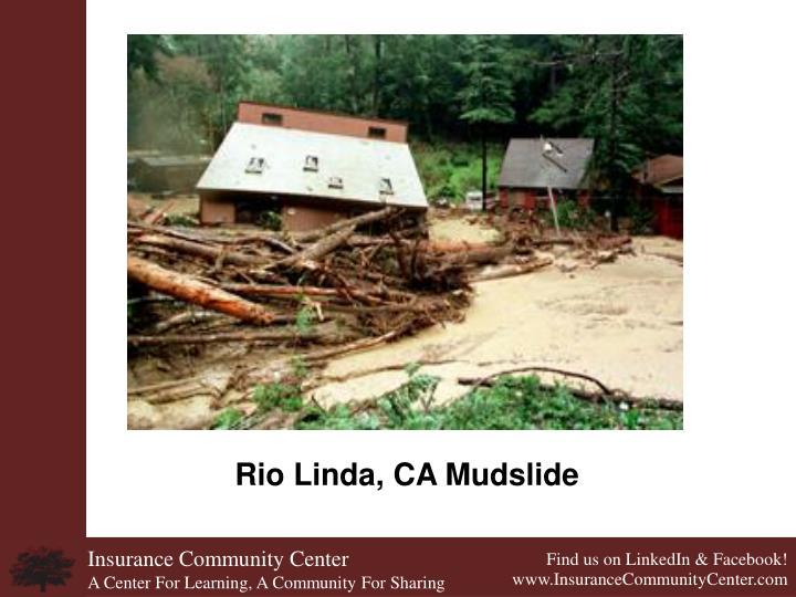 Rio Linda, CA Mudslide