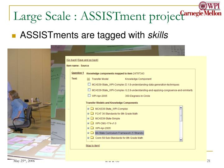 Large Scale : ASSISTment project