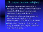 f1 respect warmte nabijheid