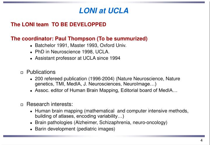 LONI at UCLA