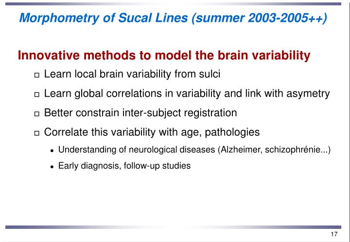 Morphometry of Sucal Lines